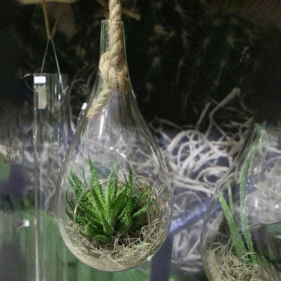 Ideas4Seasons Kapljica - steklena z vrvjo