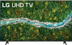 LG 43UP77003LB Smart LED TV, 108 cm, 4K Ultra HD, HDR, webOS ThinQ AI, Sötétszürke