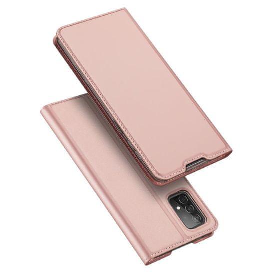 Dux Ducis Skin Pro bőr könyvtok Samsung Galaxy A52 5G / A52 4G, rózsaszín