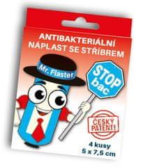 StopBac Antibakteriální náplast StopBac STERILE Normal 7,5x5 cm 4 ks