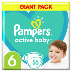 Pampers plenice Active Baby 6 Extra Large (13-18 kg) 56 kosov