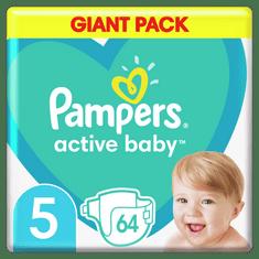Pampers Pieluszki Active Baby 5 Junior (11-16kg) 64 sztuk