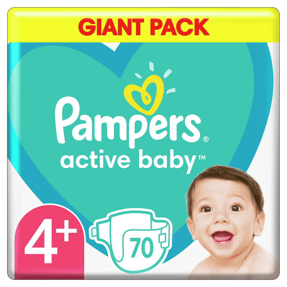 Pampers Pleny Active Baby 4+ Maxi (10-15 kg) Giant Pack 70ks