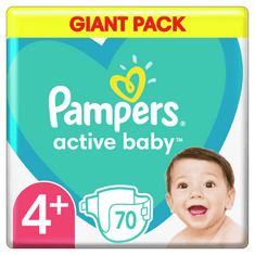 Pampers Pieluchy Active Baby 4+ Maxi (10-15 kg) 70 sztuk