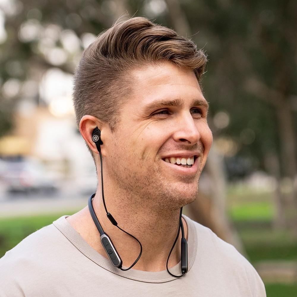 modern Bluetooth fülhallgató JLab Epic ANC vezeték nélküli fülhallgató 3 módban tiszta hang, nagy teljesítmény, hosszú üzemidő, könnyű, beépített vezérlő mikrofonok