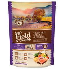 Sams' Field hrana za odrasle pse vseh pasem, brez žit, losos in sled, 800 g