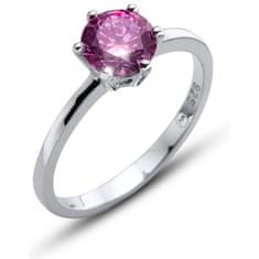 Oliver Weber Morning Brilliance Large ezüst gyűrű lila színű kristállyal 63221 PUR (Kerület L (56 - 59 mm)) ezüst 925/1000