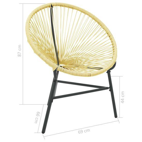 shumee Krzesło ogrodowe Acapulco, polirattan, beżowe