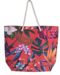 Koopman torba za plažu Leaf, 53x42x16 cm, crvena