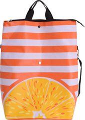 Koopman torba za plažo, 55x50x19 cm, črtasta, oranžna