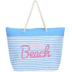 Koopman torba za plažo Beach, 39x38x16 cm, svetlo modra/bela