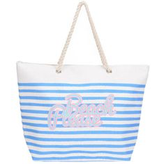 Koopman torba za plažo Beach, 39x38x16 cm, bela/modra