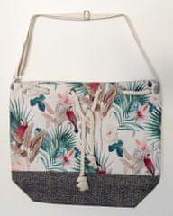 Koopman torba za plažo Flora, 54x44x18 cm, bela