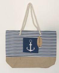 Koopman torba za plažu Marina, 38x38x14 cm, tamno plava