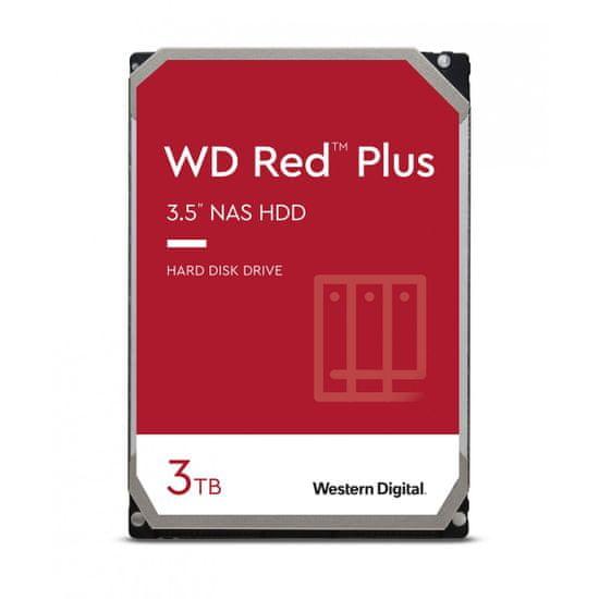 Western Digital Red Plus tvrdi disk, 3 TB, SATA3, 5400 rpm, 128 MB (WD30EFZX)