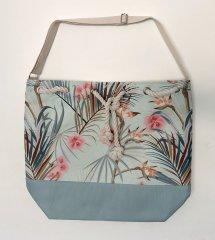 Koopman torba za plažo, palmovi listi, 54x44x18 cm, svetlo zelena