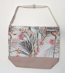 Koopman torba za plažo, palmovi listi, 54x44x18 cm, bež