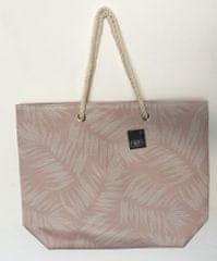 Koopman torba za plažo, listi, 54x42x14 cm, bež