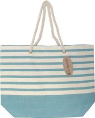 Koopman Plážová taška 52x38x16 cm s bielymi pruhmi modrá