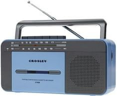 Crosley Cassette Player CT102, modrá