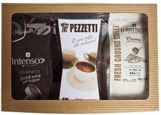 Pezzetti Dárkový set - konvička ItalExpress + Intenso Classico 250 g + Intenso Crema 250 g