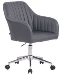 BHM Germany Konferenční židle Filton, syntetická kůže, šedá