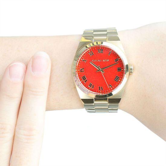 Michael Kors Dámské pozlacené hodinky Runway Barva: Zlatá, Velikost: OS