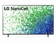 LG 50NANO803PA NanoCell Smart LED TV, 127 cm, 4K Ultra HD, HDR, webOS ThinQ AI, Fekete