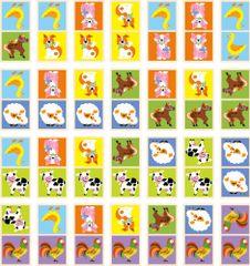Viga Dřevěné domino - domácí zvířata