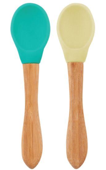 Minikoioi Lžička s bambusovou rukojetí 2 ks