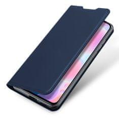 Dux Ducis Skin Pro usnjeni flip ovitek za Xiaomi Redmi Redmi K40 / Poco F3, modra