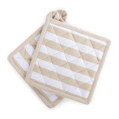 Svilanit Stripe set dveh kuhinjskih prijemalk, 2x18x18 cm