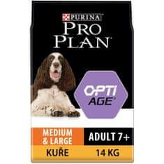Purina Pro Plan Adult7+ medium&large OPTIAGE, 14 kg