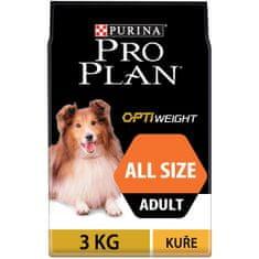 Purina Pro Plan Adult all sizes OPTIWEIGHT kuře 3 kg