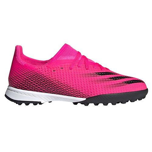 Adidas X GHOSTED.3 TF J, X GHOSTED.3 TF J   FW6927   SHOPNK / CBLACK / SCRORA   4.5