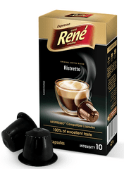 René Ristretto kapsuly pre kávovary Nespresso, 10ks