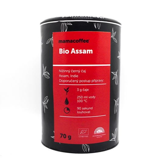mamacoffee Bio čaj Assam sypaný 70g - Nížinný černý z oblasti Ásám