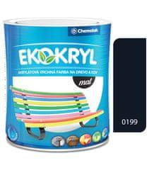 Chemolak Ekokryl Mat V2045 0199 černá 0,6l - vrchní akrylátová barva na dřevo a kov