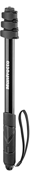 Manfrotto Compact Xtreme 2-In-1 foto Monopod in selfi palica - (MPCOMPACT-BK)