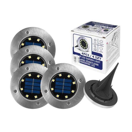 LTC Solarna svetilka za v zemljo okrogla 5000K 4 kosi