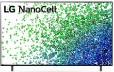 LG 55NANO803PA NanoCell Smart LED TV, 139 cm, 4K Ultra HD, HDR, webOS ThinQ AI, Fekete