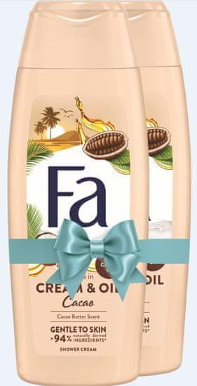 Fa gel za tuširanje Cream & Oil Cacao, 2 x 250 ml