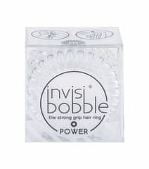 Invisibobble 3ks power hair ring, crystal clear