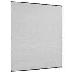 shumee Magnetni komarnik za okna antraciten 130x150 cm steklena vlakna