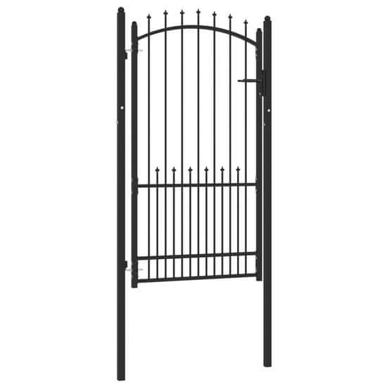 shumee fekete acél kerítéskapu cövekekkel 100 x 175 cm