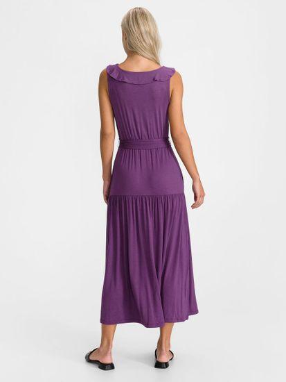 Gap Obleka sleeveless ruffle maxi dress