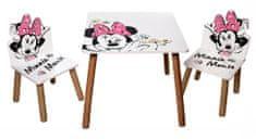 Arditex Dětský stůl s židlemi Minnie Mouse