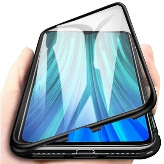 MG Magnetic Full Body Glass mágneses tok Xiaomi Redmi Note 9T, fekete