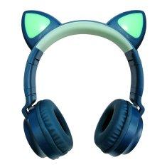 MG M028 brezžične slušalke z mačjimi ušesi, modro
