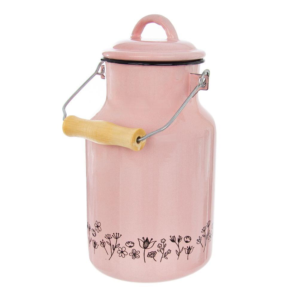 Orion Konvice na mléko smalt růžová LOUKA 2 l